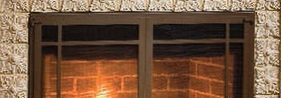 diamond w - Glass Fireplace Doors